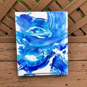 Original Abstract Painting Modern Wall Art Blue